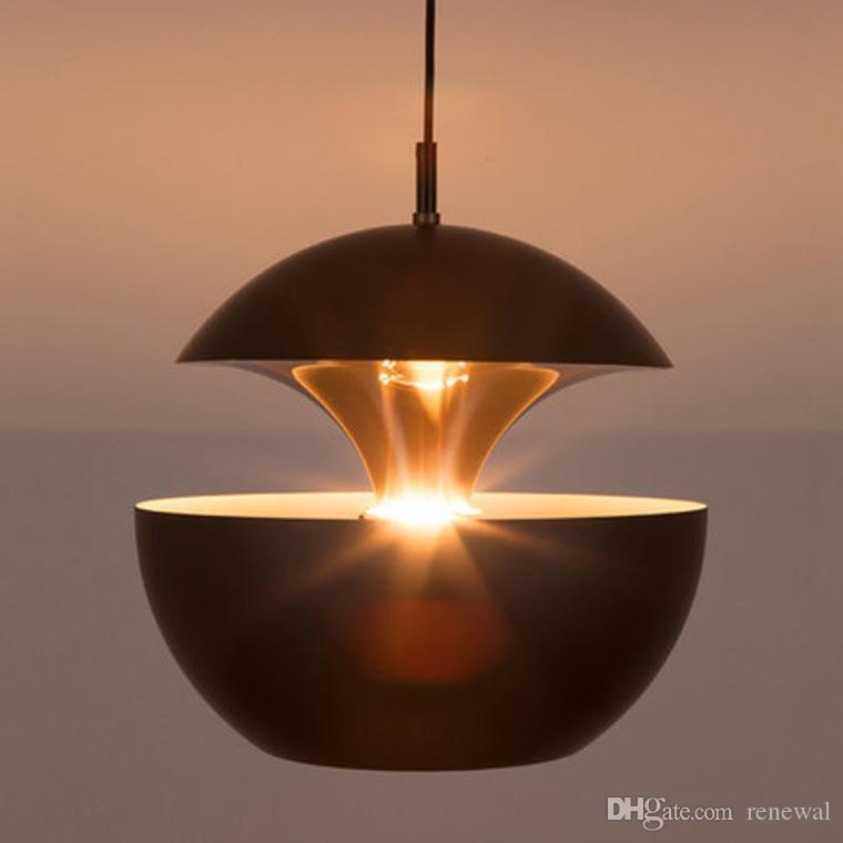 Apple Creative Simple araña de oro Pequeña Lámpara Colgante Restaurante Lámpara de mesa Sala de estar El estudio Ático Lámpara Colgante Luces