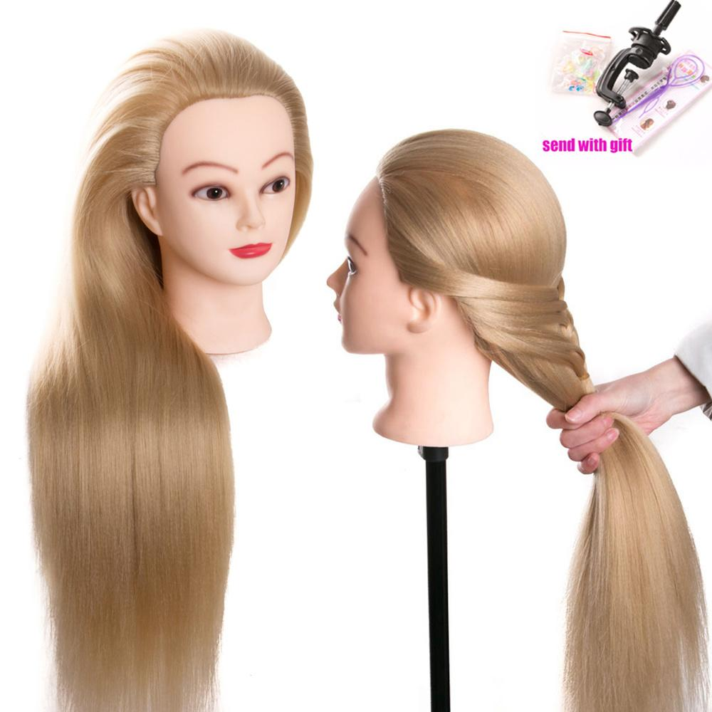 Wig Mannequin Head 80cm Hair Synthetic Mannequin Head Hairstyles Female Mannequin Hairdressing Styling Training Head For Hairdresse