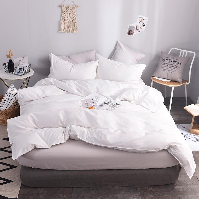 Pure White Hotel 적용 침구 홈 섬유 이불 커버 1 인용 100 % Cotton Soft Bedspreads 이불 커버 200X230cm 220x240cm 크기