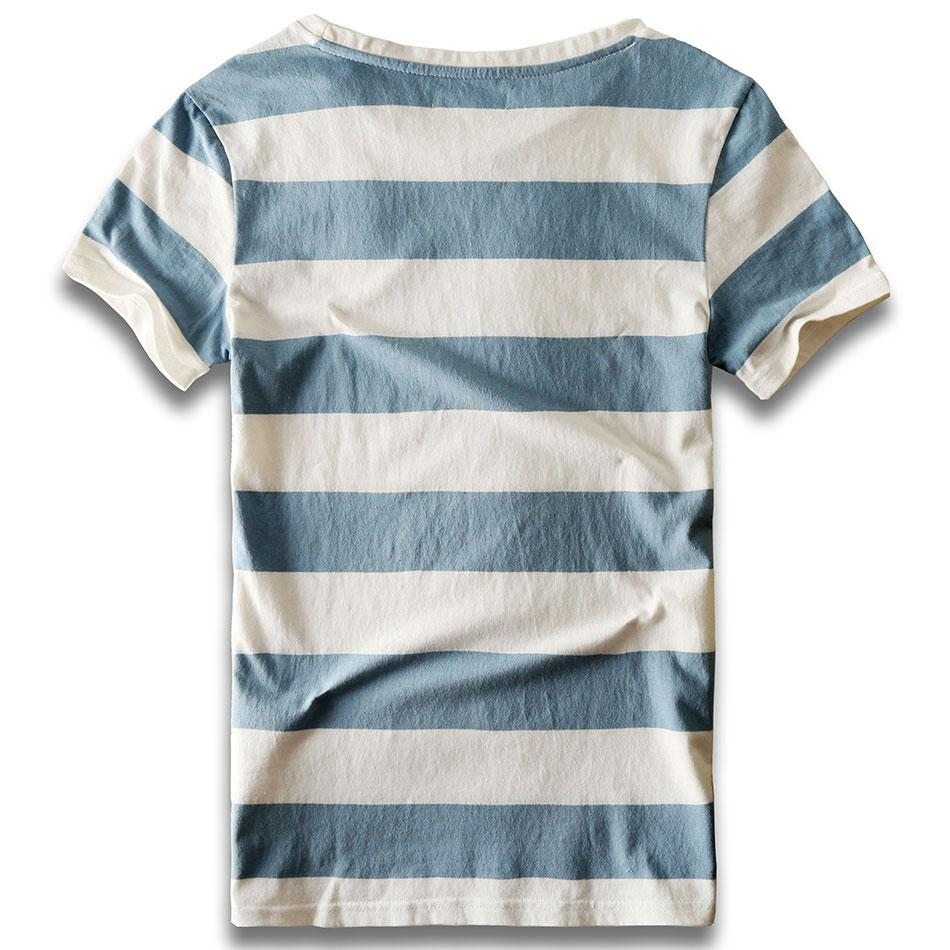 Men Striped T-Shirt Stripes Top Tees Male Fashion Short Sleeve Blue Red White Black T Shirt Costume Cosplay Party