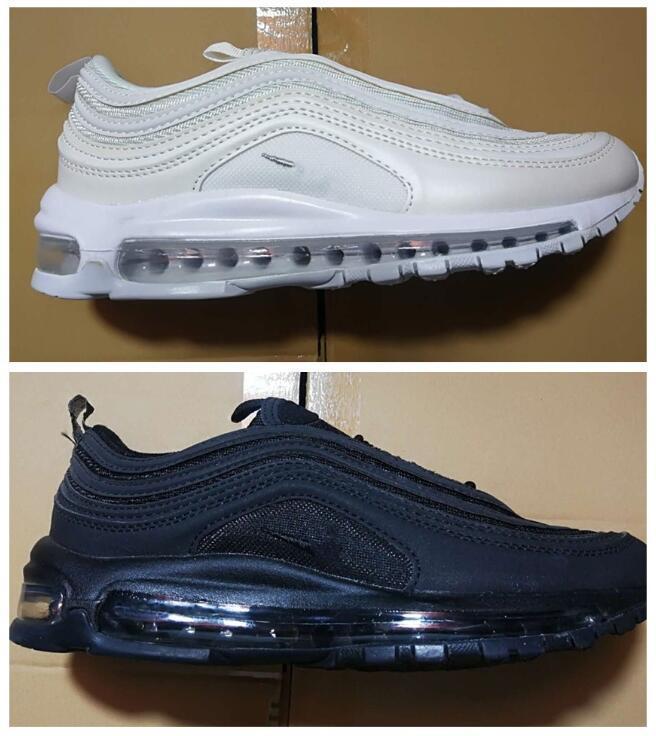 2018 Men Shoes 97 97S Maxes Running Shoes Sneakers Men Outdoor Shoes Black White Free Drop Shipping eur