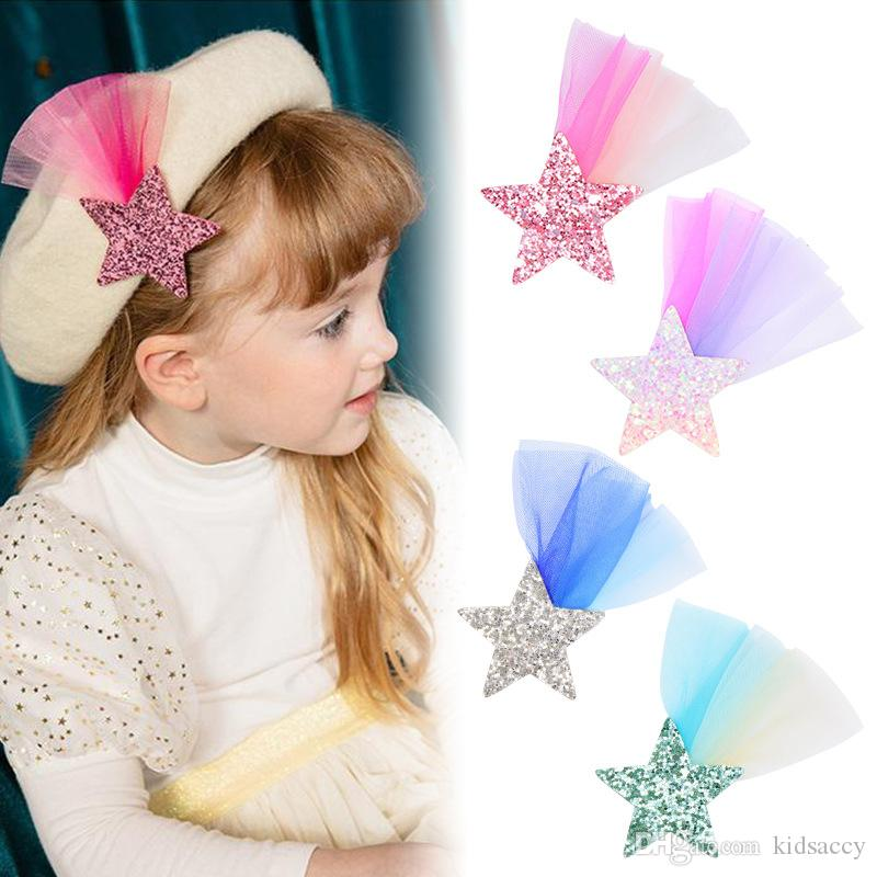 Girls Star Glitter Hairpin Toddler Child Barrettes Baby Headgear Hair Deceor Hot