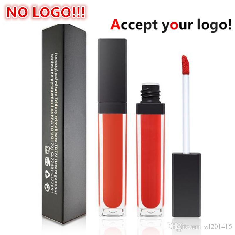 33 colloor opaco labbra lucido tubo quadrato Tubo personalizzato Rossetto impermeabile Liquiding Liquiding Lipgloss Accetta il tuo logo