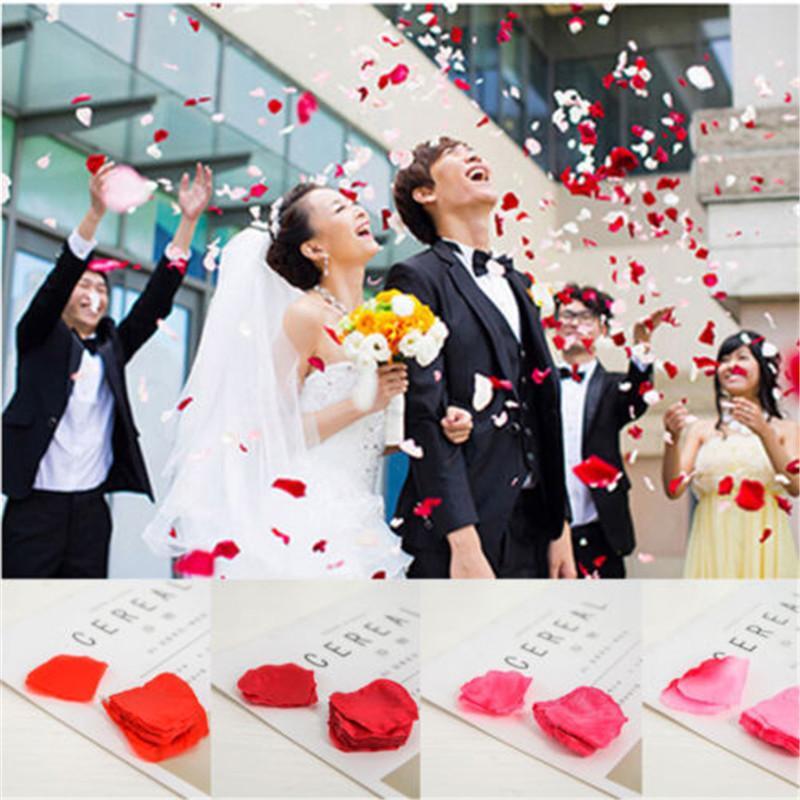 2018 New 100pcs / 1000pcs pétales en soie artificielle Rose de soirée de mariage célébration décoration florale Confetti