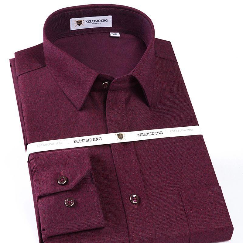 Camisas de vestir para hombres para hombre de calidad casual de lana sombra camisa a cuadros de un solo parche de bolsillo de manga larga y ajuste estiramiento fácilmente cuidado