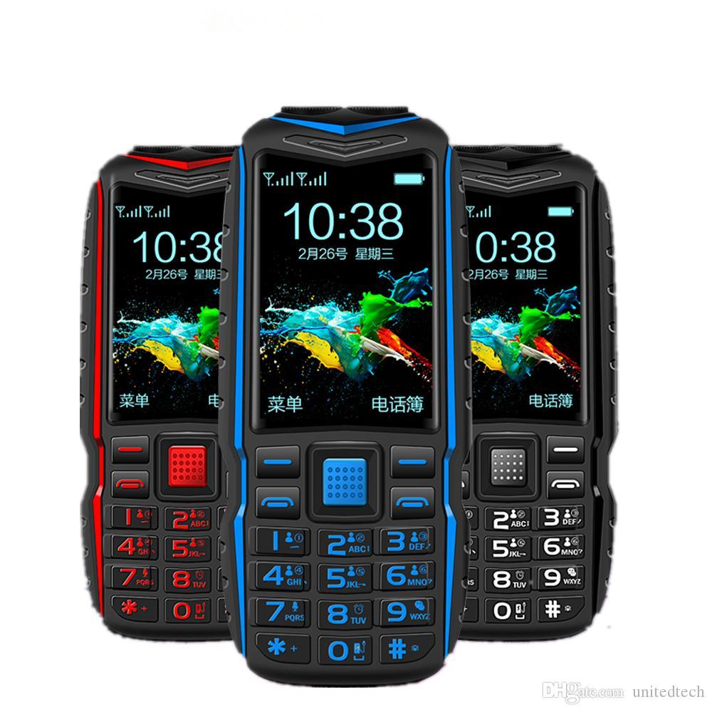 오리지널 KUH 견고한 야외 모바일 휴대 전화 긴 대기 전력 은행 진동 블루투스 듀얼 손전등 15800mAh 시끄러운 스피커 핸드폰