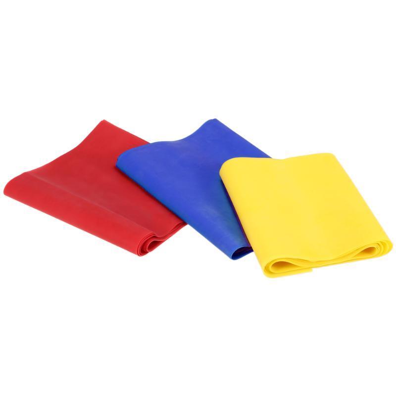 3PCS Yoga Fitness Exercice Les bandes de résistance en caoutchouc élastique d'étirement des bandes de résistance 150cm bande boucle pour Home Gym Formation