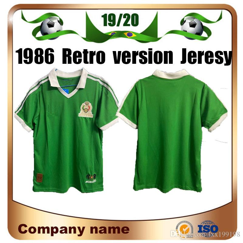 1986 Coppa del Mondo Messico Retro Versione Home Blu Futbol Vintage Football Camiseta Classic Camicia da calcio Camicia da calcio Nazionale Calcio a manica corta