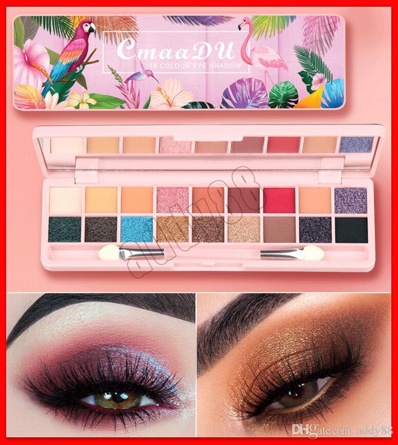 2019 NEW Eye Makeup Cmaadu Cosmetics Eyeshadow Palette Beginner 3D MatteShimmer NUDE 18 Colors Eye Shadow Makeup Palettes