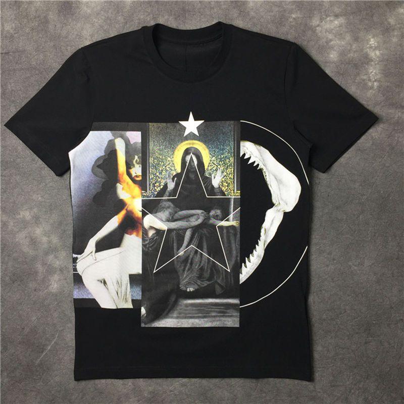 Shirt Mens T Shirt Pentagram Vergine stampato Estate maniche corte Uomo Donna T casuale cotone Tee