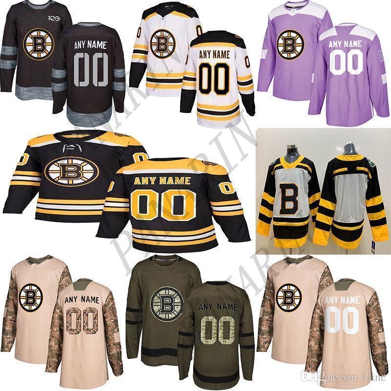 2020 Notícias Boston Bruins Hóquei Jerseys Múltiplos Estilos Mens Personalizado Qualquer Nome Qualquer Número Jerseys de Hóquei