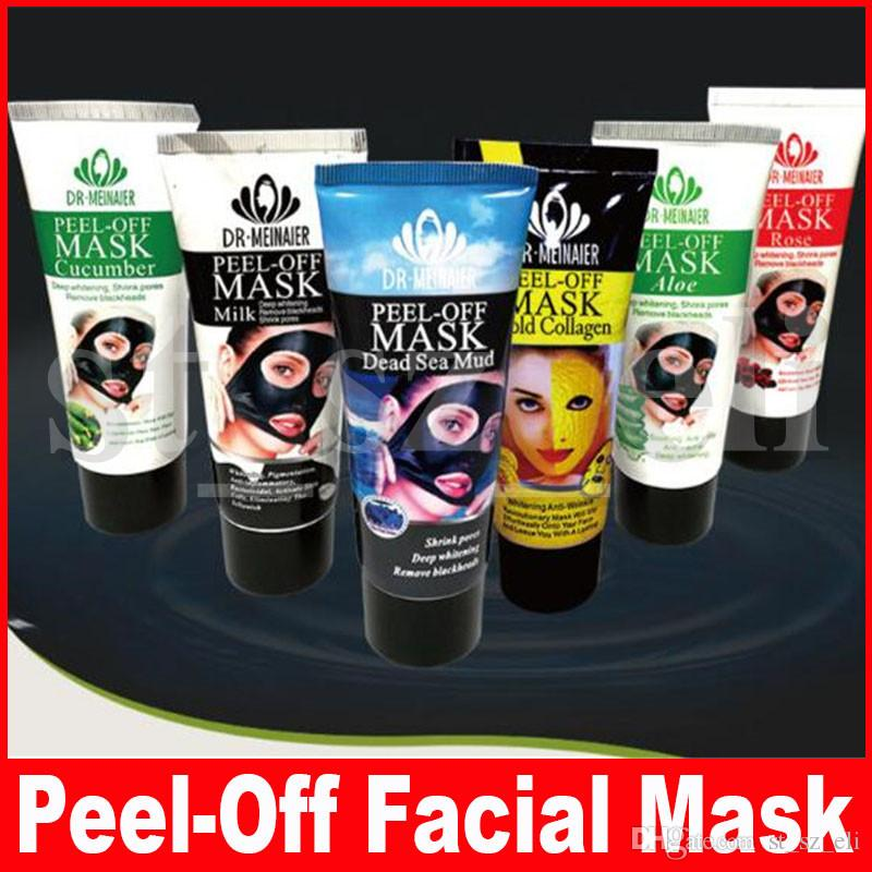 7 Styles Peel Off Facial Mask Milk Gold Collagen Deep Cleansing 60g Blackhead Remover Dead Sea Mud Rose Aloe Face Mask Skin Care