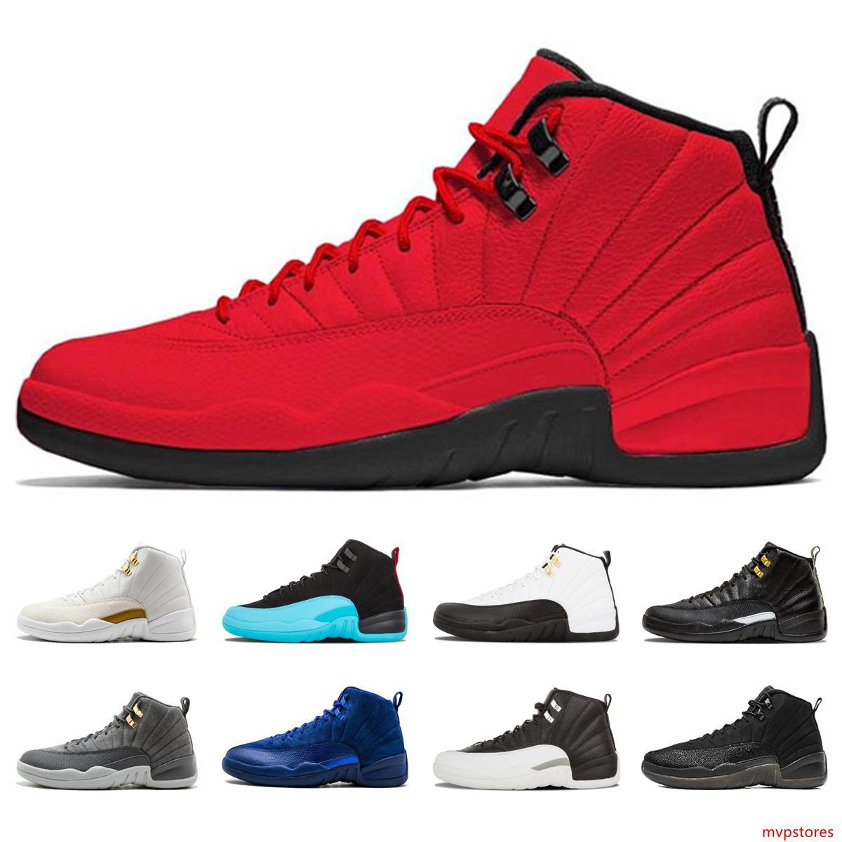 Sıcak Satış 12 erkek Basketbol ayakkabıları beyaz playoff GS Barons taksi usta siyah boğa spor salonu 12s Basketbol spor ayakkabıları 41-47 EUR'dur kırmızı