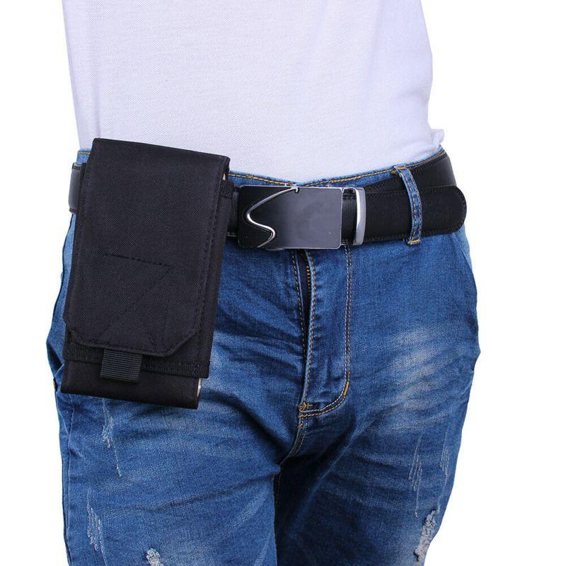 Táctica militar Hip Fanny bolsa del cinturón Molle cintura bolsa de células caja del teléfono portátil