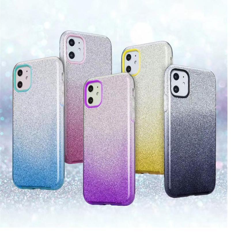 Gradient Glitter Sternpapier für iphone 11 XS Max XR X XS 6 6s 7 8 Plus bunte weiche TPU Telefon-Abdeckung