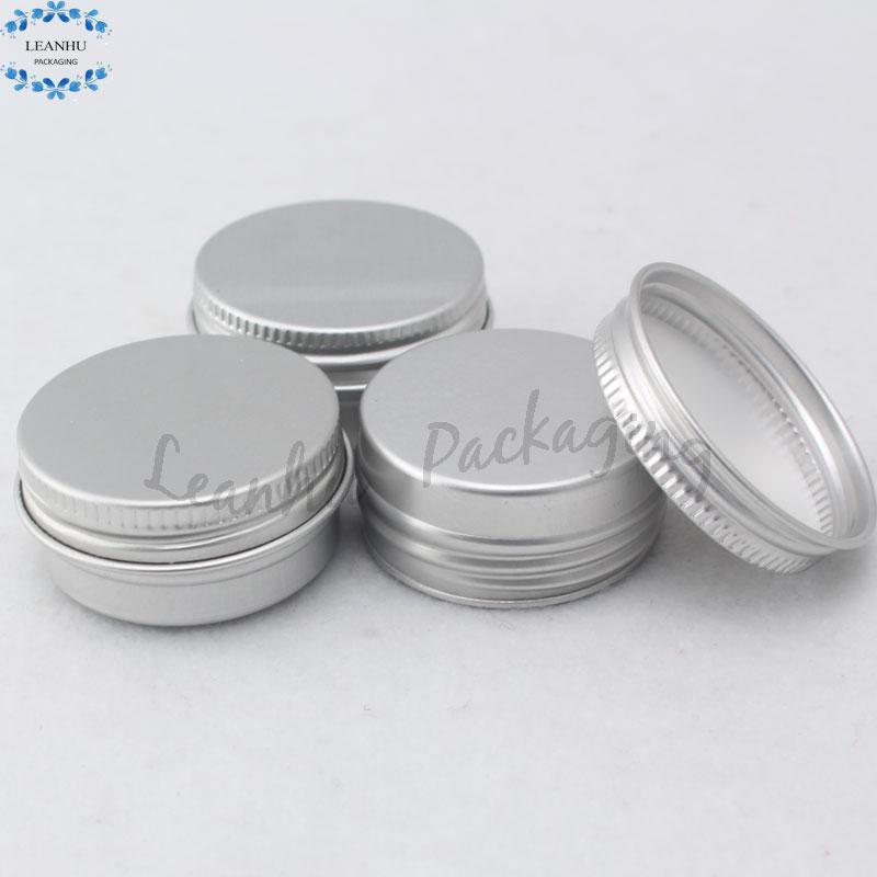 Plata Crema cosmética de aluminio de la lata, latas de hojalata y metal Cosméticos, maquillaje Pequeña Muestra de contenedores vacíos, Cosméticos de contenedores de embalaje