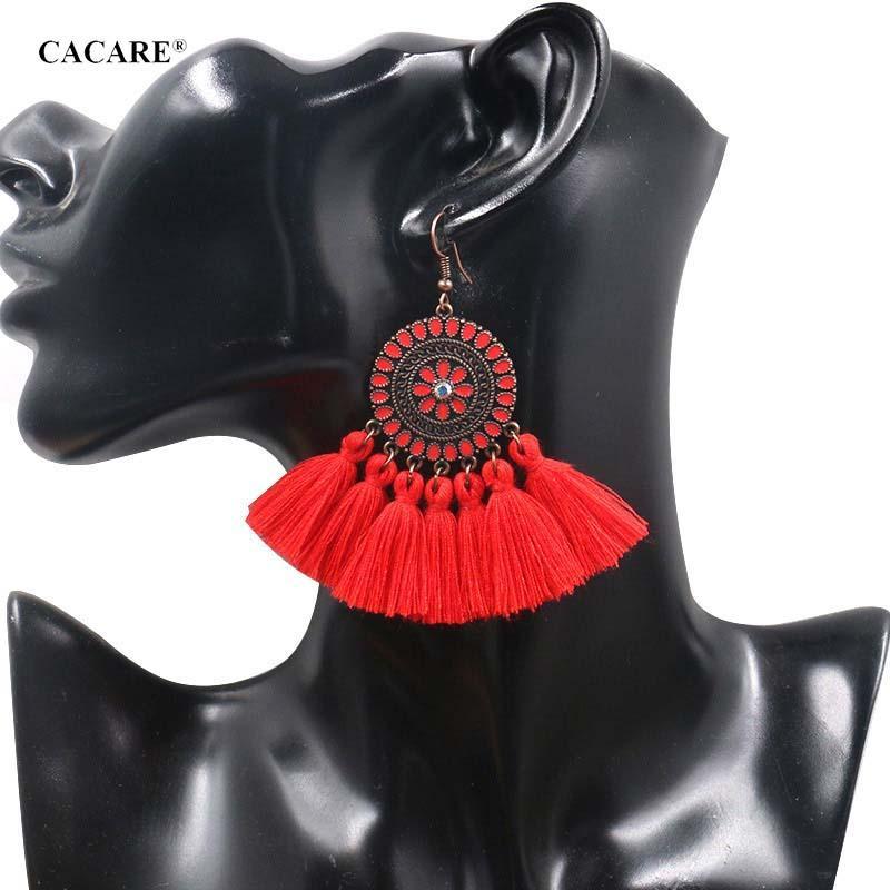 Fringe Earing Bohemia Big Pendent Tassel Earrings Women 2019 CHEAP Ethnic Drop Long 9 Choices F0473 Carey Earrings Bohemia