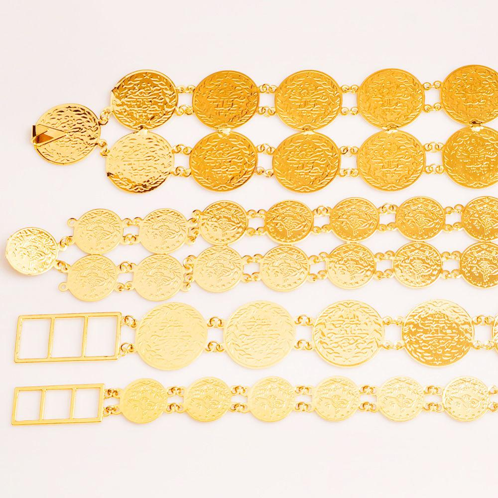Anniyo (4 styles & Size) Belly Chains for Women Gold Color Turkish Coins Belt Jewelry Middle East Oman Iraq Kurdish Coin #010701 T200508
