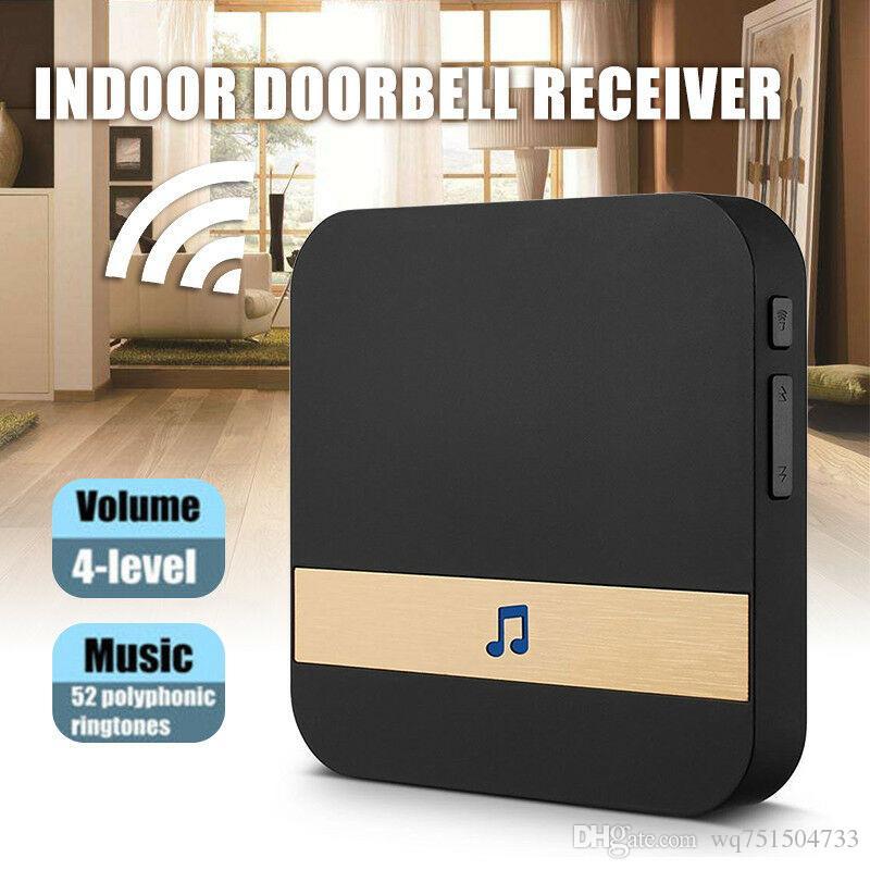 Drahtlose Wifi Smart Video-Türklingel 433MHz Chime Music Receiver Home Security Innen Intercom Türklingel Receiver 10-110dB Sounds