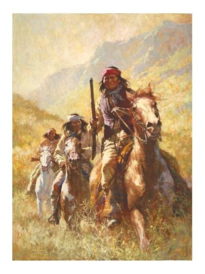 Legend of Geronimo by Howard Terpning High Quality Handpainted &HD Print Art Oil Painting On Canvas Multi sizes 24.374