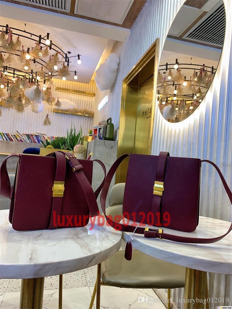 2019 Nouveau sac femmes en cuir Sac à main Femmes sacs à main épaule en cuir véritable sac à main Totes Cross Body Grande taille: 30 * 28 de petite taille: 26 * 25