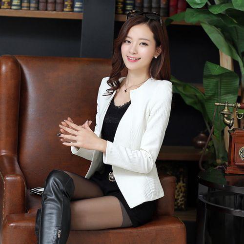 Nuovo J61269 colore della caramella Blazers donne donne del rivestimento del vestito di affari Blazer giacca sportiva mujer plus size donne coreane CJ191216