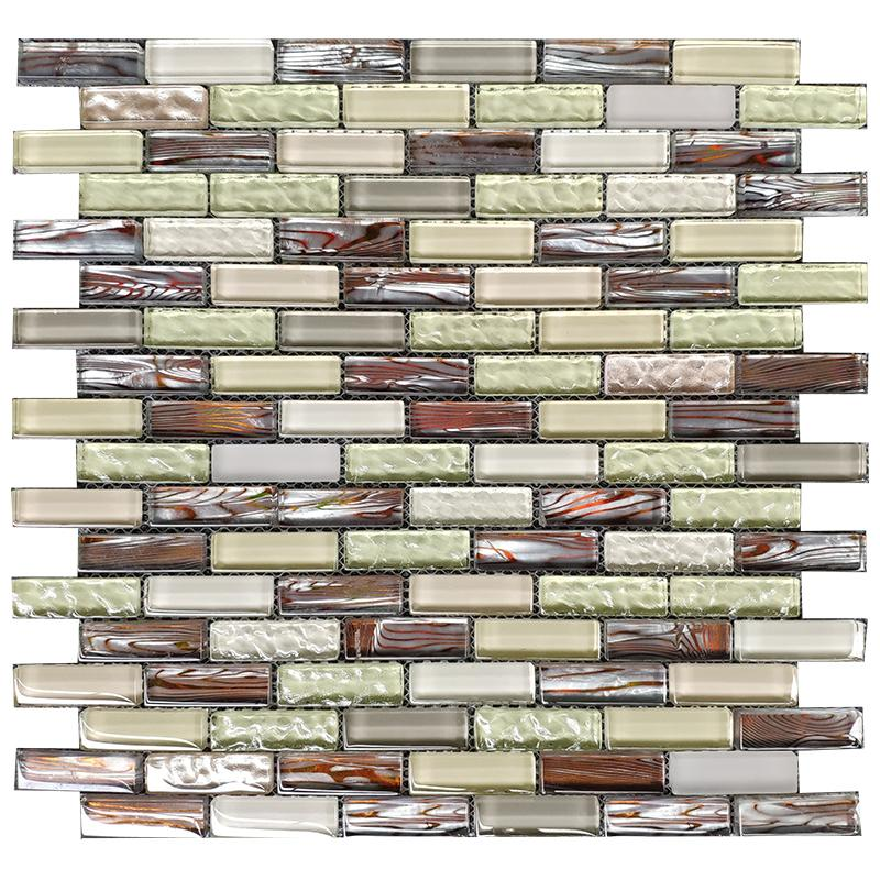 2021 Brick Glass Mosaic Tile Backsplash Kitchen Jmfgt064 Light Green Beige Gray Glass Mosaic Bathroom Wall Tile From Sophie Charm 12 56 Dhgate Com