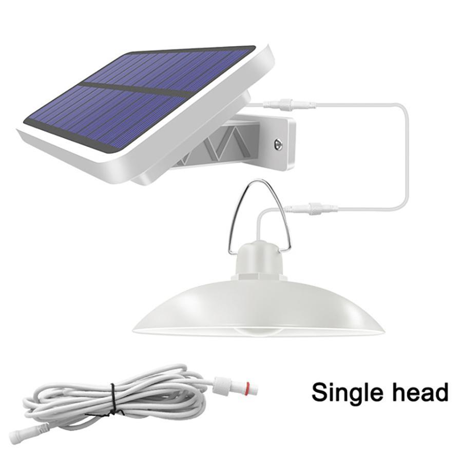 Umlight1688 Solar Pendant Light Outdoor Indoor Solar Lamp Double Head Warm White/White Lighting For Camping Home Garden Yard
