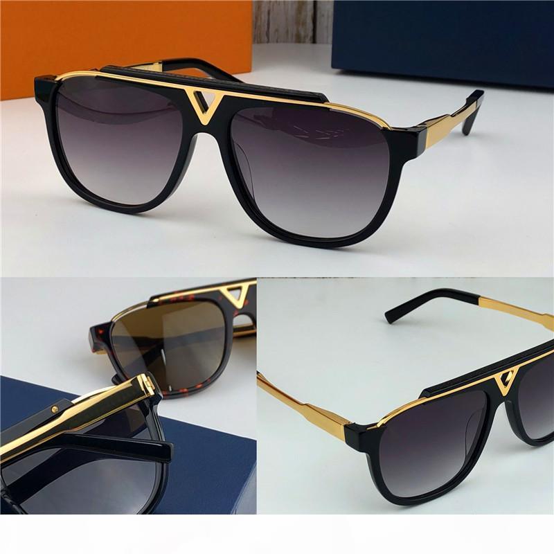 son satış popüler moda erkek tasarımcı kutusunda 0936 ile 0937 kare plaka metal kombinasyonu çerçeve en kaliteli UV400 lens güneş gözlüğü
