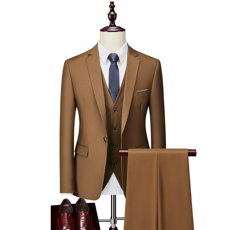 Mann-Klage 2020 Frühling und Herbst-Qualitäts-kundenspezifische Geschäfts-Anzug Dreiteilige dünner Large Size Multi-color Ein-Knopf