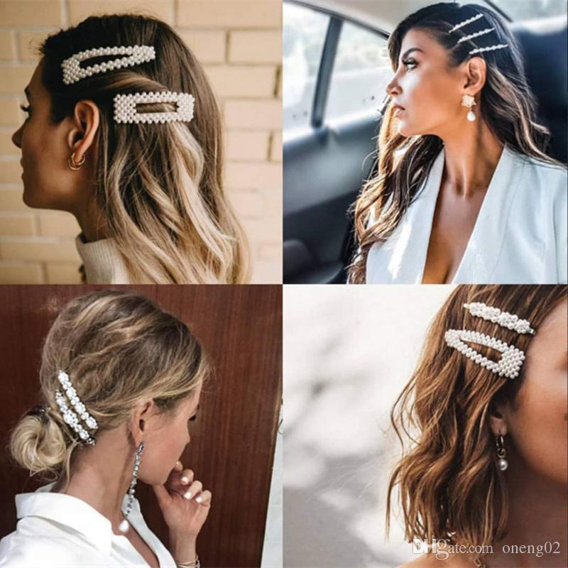 Clipe Hair Fashion Pérola por Mulheres Elegant Design Coreanos snap Barrette vara Hairpin Cabelo Styling Jóias Acessórios