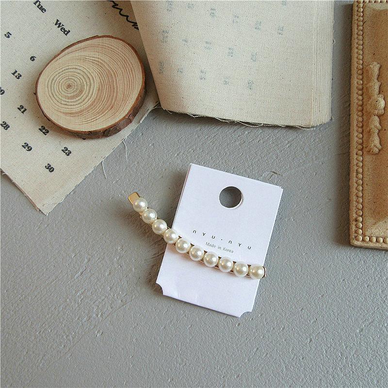 Büyük İnci Saç Klip Barrette Toka Tokalar İnci Beyaz Bun Maker Klip Accessori Per Capelli A Fiori DSbQw