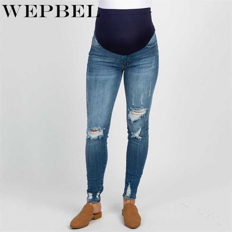 Jeans da donna WEPBEL DONNA GRAVIDANZA INVERNO INVERNO Pantaloni caldi maternità per vestiti incinti Pantaloni infermieri