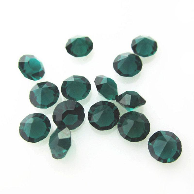 New Arrival 300pcs May Birthstone Dark Green Crystal Floating Charms Living Glass Memory Lockets Pendants DIY Jewelry Charm