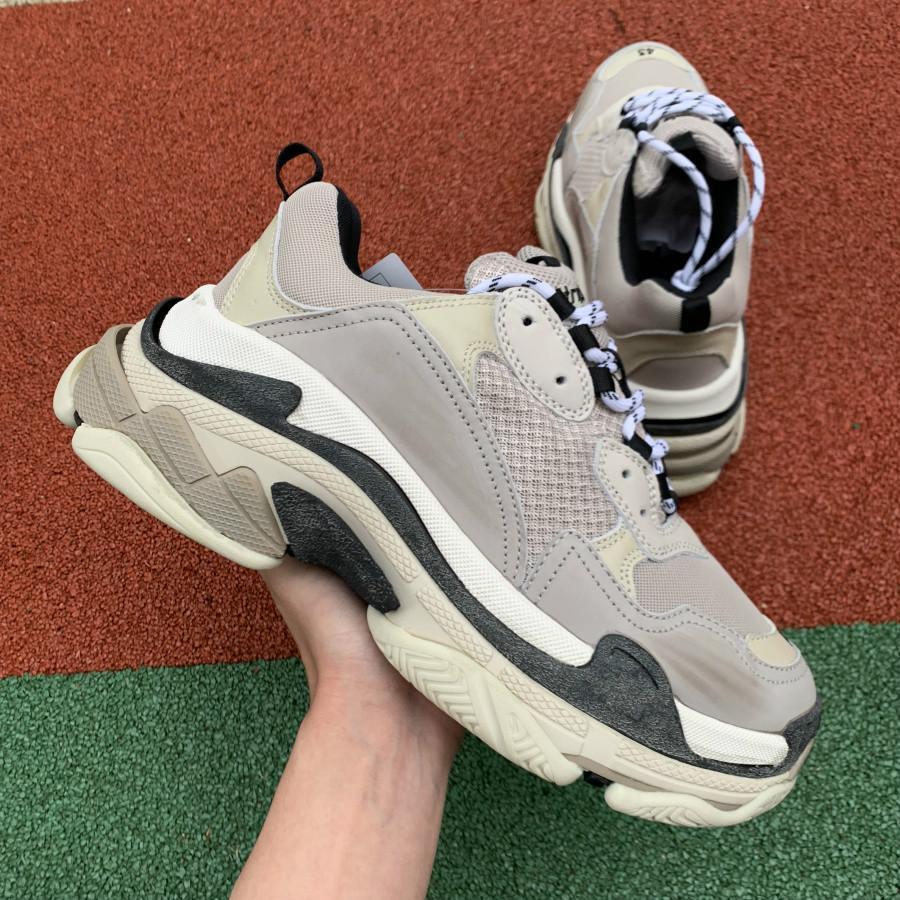 ضوء رمادي الثلاثي S مصمم منخفضة جعل قديم حذاء رياضة الجمع نعال أحذية الرجال الأحذية النسائية أزياء الرياضة chaussures حذاء عرضي