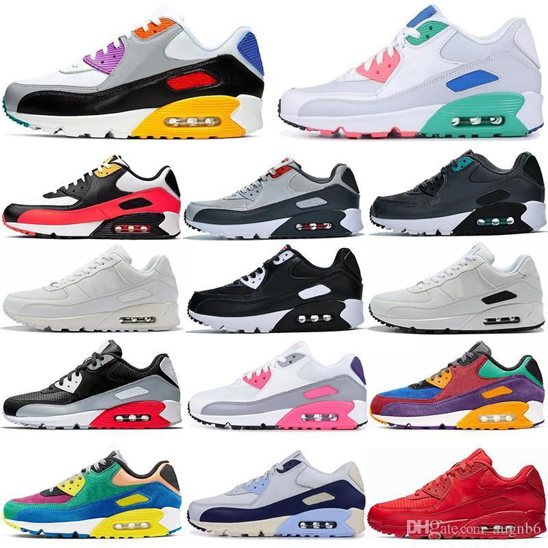 Nuevo 90 zapatos para correr Hombres Mujeres Ser Verdadero hombre Viotech jalea láser fucsia Mixtape aterrizaje en Marte infrarrojos entrenadores deportivos zapatillas de deporte