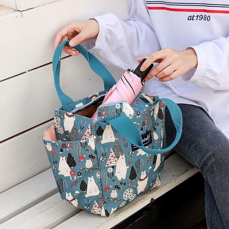 Nuevo estilo de moda Totes Mamá Bolsas impermeables extra-grandes Bolsas No. Bolso Bento Bolso Bolso Llevar Mujer Pañal de lona para Tekcb
