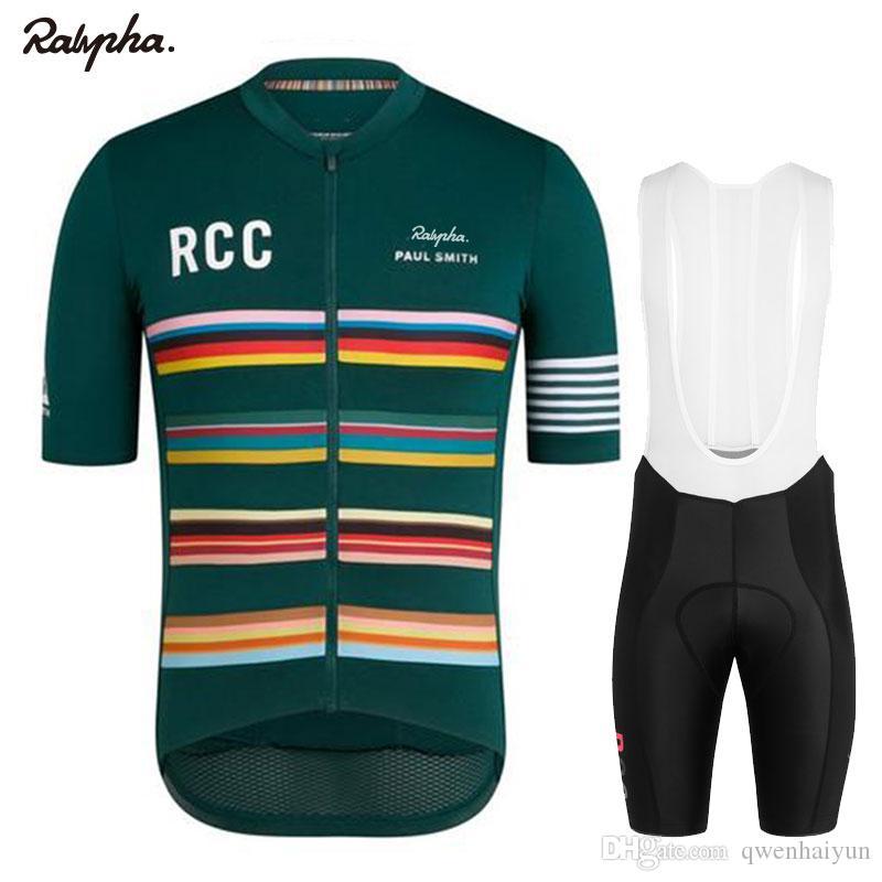 2019 Rapha Pro Ciclismo Jersey Men's Bib Shorts Pro Bike Kit Bicicleta Respirável Jersey Homens Set Maillots Ciclismo Hombre Hombre Ciclismo Terno