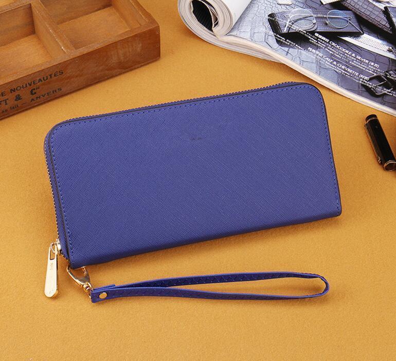 Tasarımcı-tek fermuar cüzdan ucuz tasarımcı marka kadın pu deri cüzdan bayan uzun çanta Bilek çanta çapraz desen rahat çanta