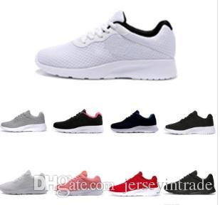 2019 Venta caliente Tanjun Run Running Shoes hombres mujeres negro bajo Ligero transpirable London 3.0 Olympic Sports Sneakers Trainers tamaño 36-45