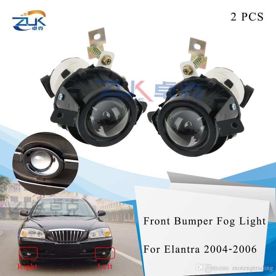Sürüş Lambası Foglights İçin Hyundai Elantra 2004 2005 2006 DRL Karşıtı Sis Lambaları Running ZUK 2PCS Ön Tampon Sis Işık Gündüz