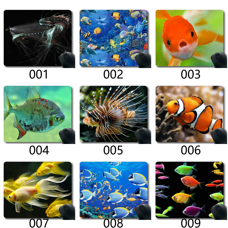 Juegos alfombrilla de ratón personalizado, cojín de ratón, Ocean Fish Tema De juego única alfombrillas de ratón alfombrilla de ratón Lager