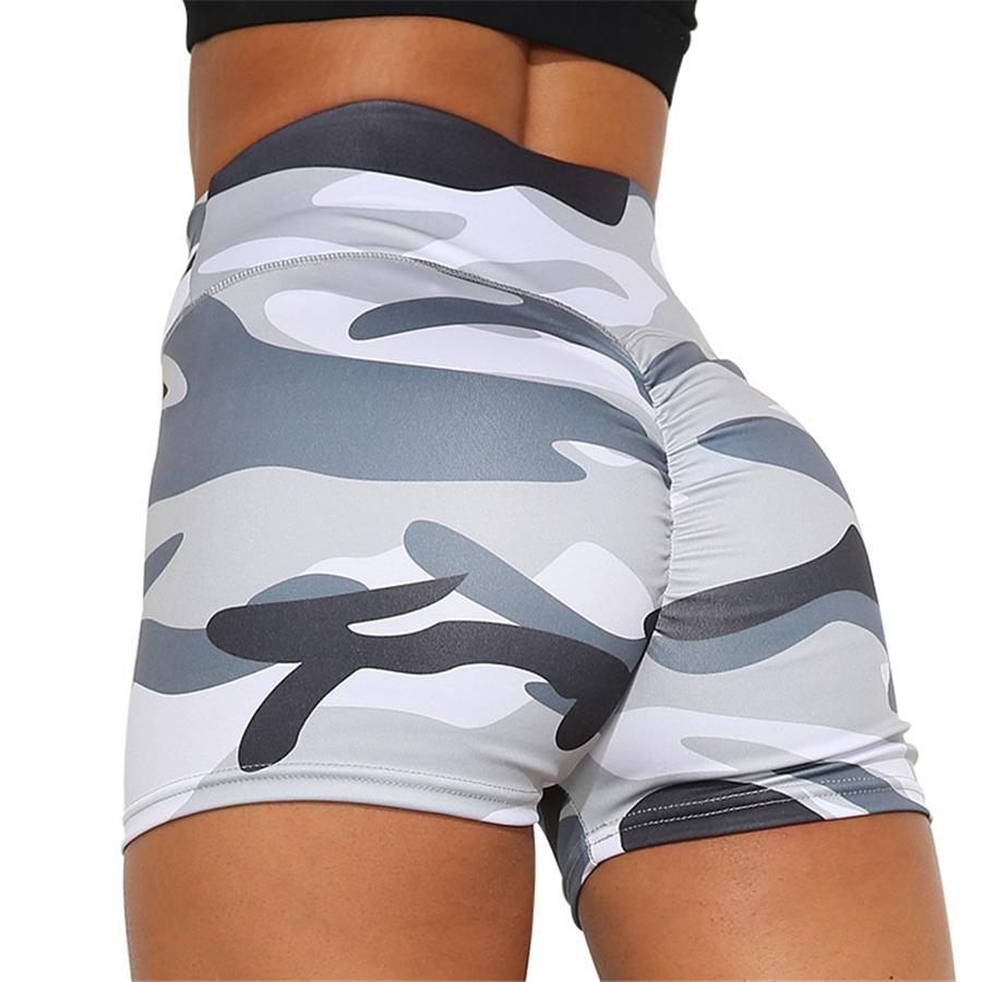 1Pcs Women High Waist Short Leggings Solid Color Running Sports Yoga Pants #562