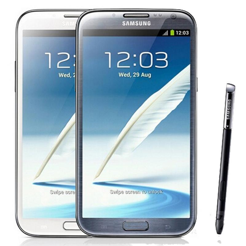 Renovished Original Samsung Galaxy Note 2 N7100 N7105 5,5 Zoll Quad Core 2 GB RAM 16 GB ROM freigeschaltet 3G 4G LTE Smart Mobiltelefon Kostenloser DHL 5pcs