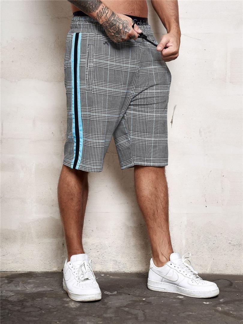 Shorts Mid Cintura Magro aptidão Homme Shorts Casual Praia Viagem Masculino Calças Curtas dos homens do desenhista da manta