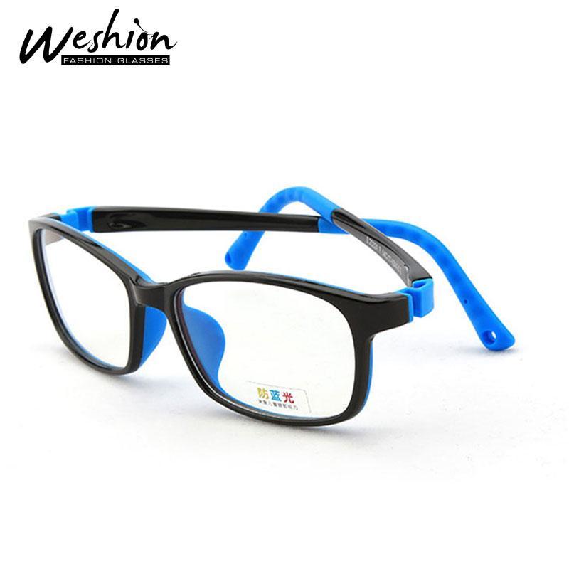 الأطفال المراهقين المضادة الضوء الأزرق نظارات الاطفال TR Slicone الإطار البصري بوي فتاة فخمة اضحة والحاسوب مضاد للتوهج نظارات UV40