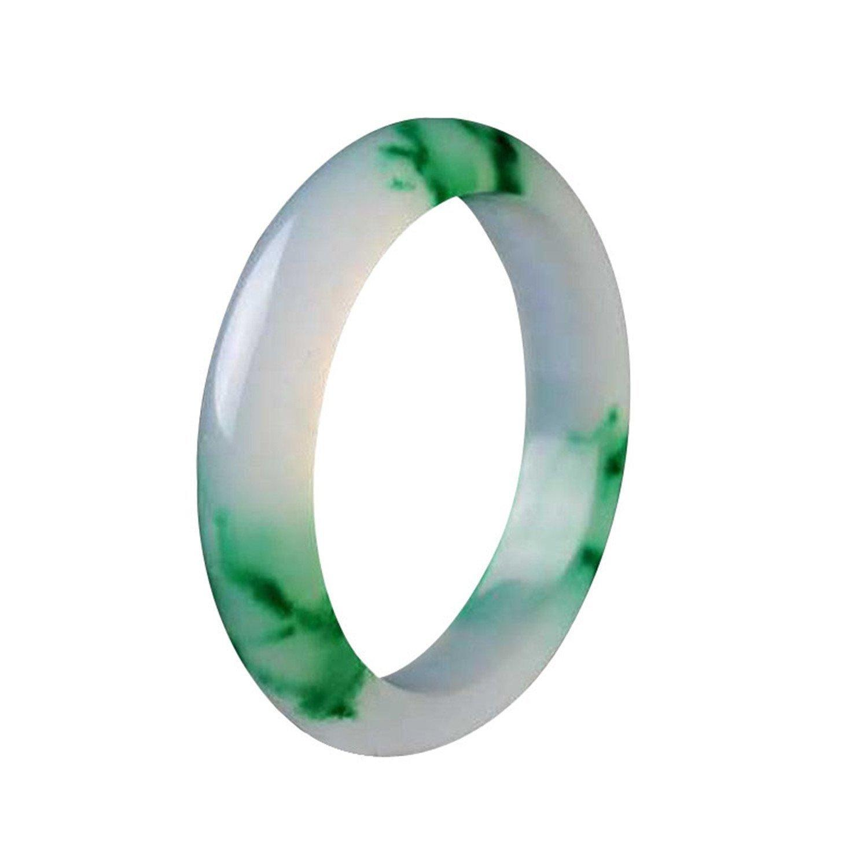 Elegante echte natürliche grüne Jade Edelsteine Armreif handgemachte Schmu SM