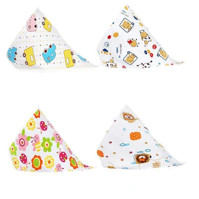 Toalla de alimentación del bebé de la bufanda del babero Niña Niño Bandana saliva Triángulo Baba doble alimentación delantal de algodón baberos del Bandana YSY172