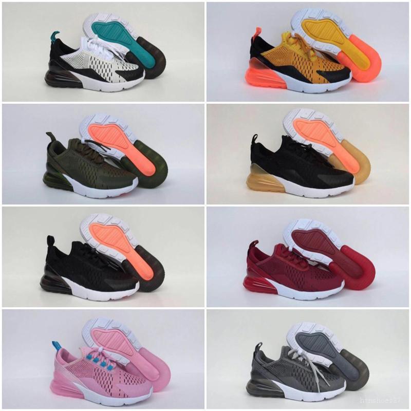 Nike air max 270 Yüksek kaliteli 2020 Yeni Çocuk Örgü Fly Nefes Sneakers Örme Fly Tüm hava yastığı Kıtıklanması Çocuklar Atletik Ayakkabı Koşu ile
