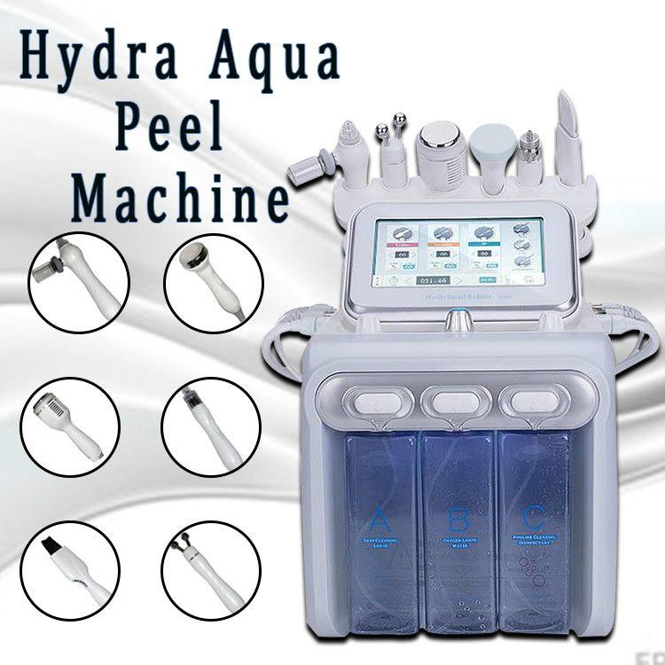 2020 neue Upgrade-Version 6 in 1 H 2 O 2 Hydrafacial Dermabrasion Hydra Wasser Microdermabrasion Aqua Peeling RF Haut Wäscher Oxygen Spray